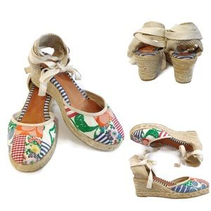 Coach patchwork wedge espadrille